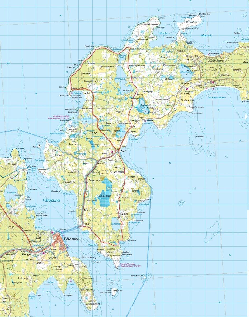 Norra Gotland 1 50 000 Sverige Calazo Se